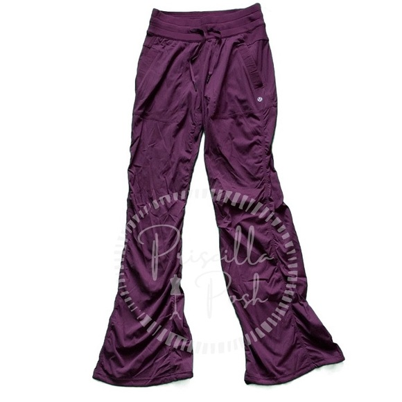 lululemon athletica Pants - Lululemon Studio Pant III (Regular) Red Grape EUC